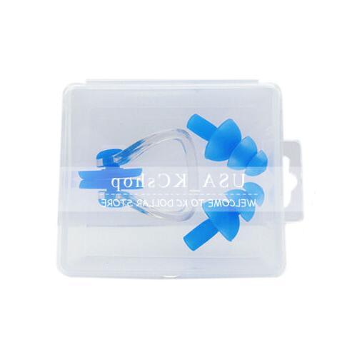New Silicone Waterproof Swim Swimming Nose Clip + Ear Plug E