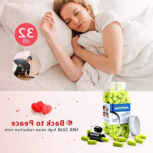 Mpow with Carrying Pairs SNR 34dB Noise Reduction Earplugs Hearing Perfect for Sleeping, Work, Travel, Loud