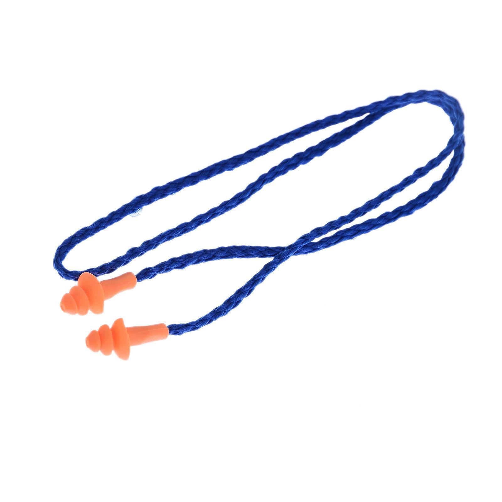 50Pcs Corded Ear Reusable Protection Earplugs