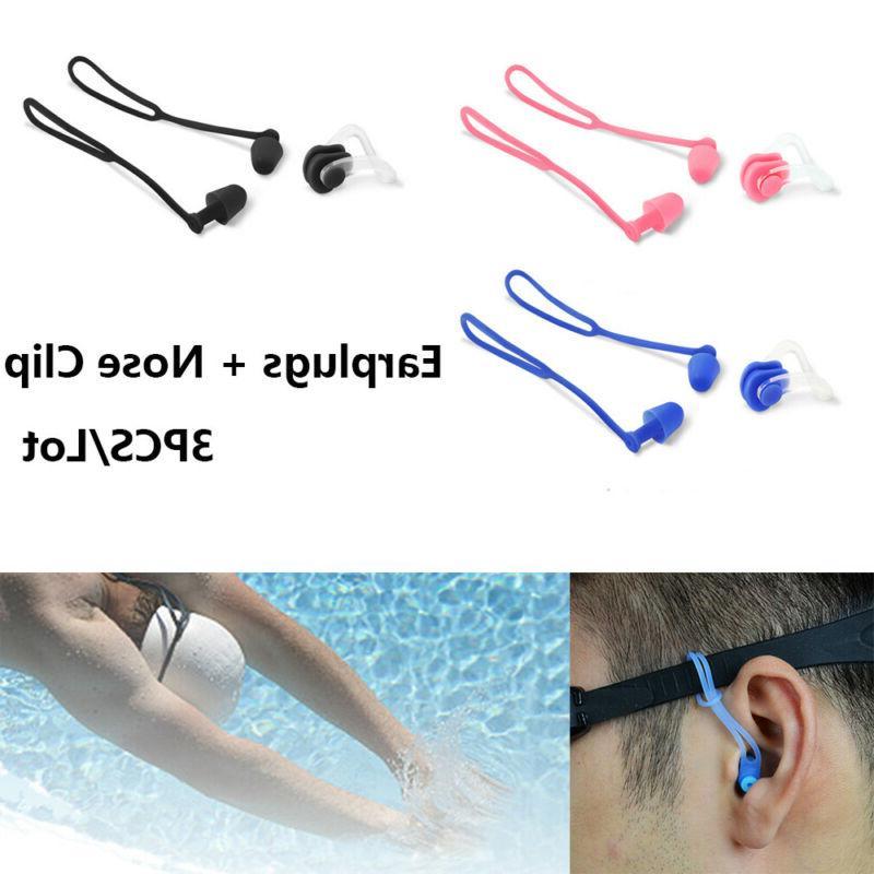 silicone nose clip ear plugs set
