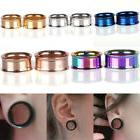 Stainless Steel Screw Ear Gauges Flesh Tunnels Plugs Stretch