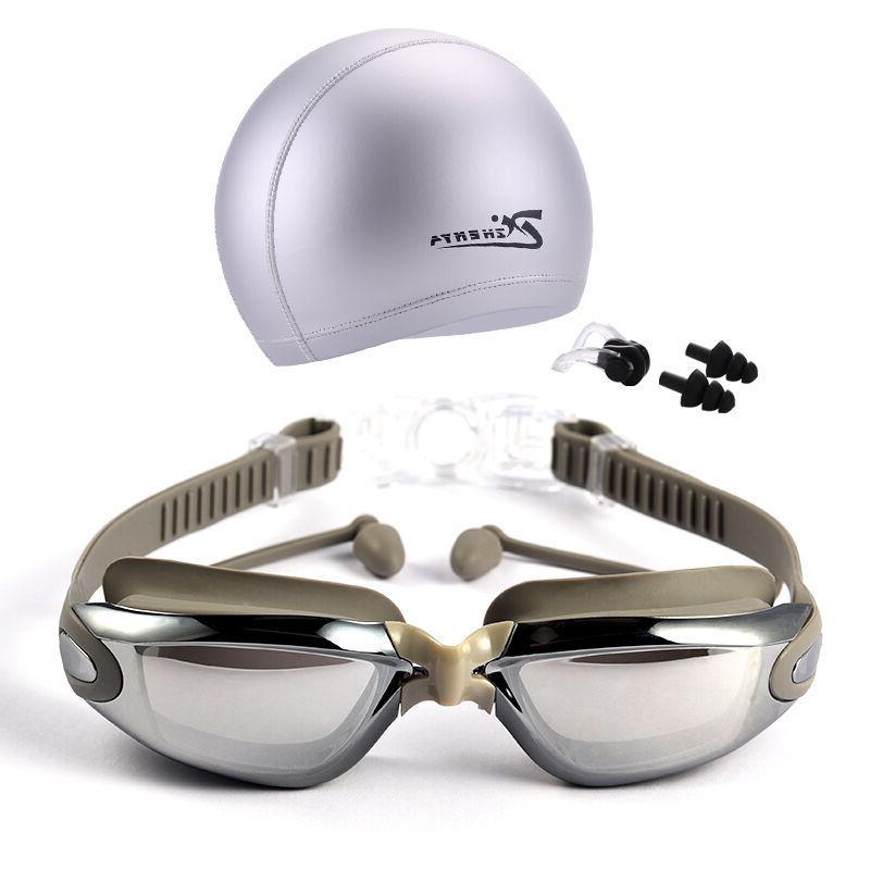 swimming glasses and hat equipment set ear