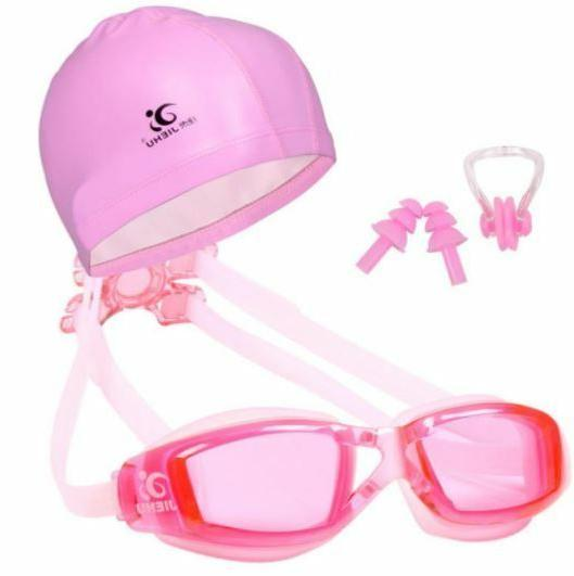 Swimming Glasses Ear Plugs Nose clip Set