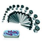 Tapers Plugs 12G-0G Gauges Kit Ear Tunnel Stretcher+FREE Veg