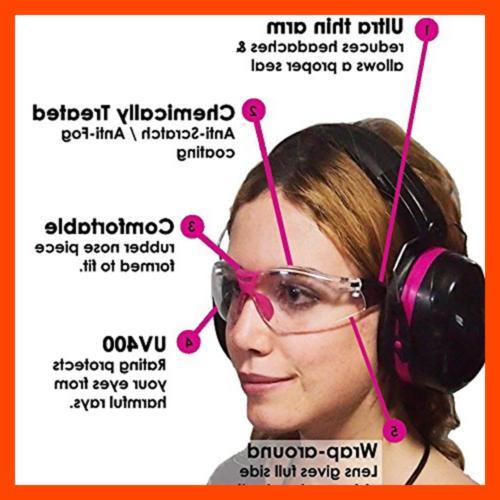TRADESMART Earmuffs & Glasses Earplugs Clear