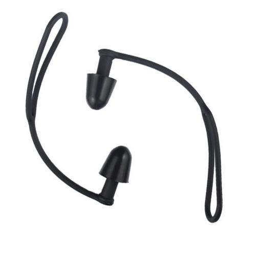 Silicone Swimming Earplugs Sports Fitness Black