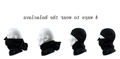 ZERDOCEAN Fleece Full Motorcycle Mask Balaclava Black