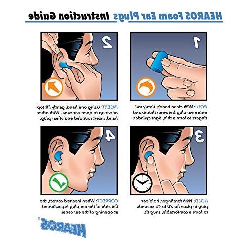 HEAROS Ear Plugs, Blue, 56