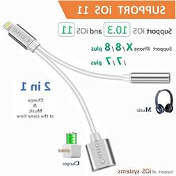 Lightning to 3.5mm Aux Headphone Jack Audio Adapter for iPho