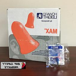 HOWARD LEIGHT MAX-1 USA UNCORDED DISPOSABLE EAR PLUGS NRR33