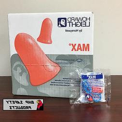 HOWARD LEIGHT MAX-30 DISPOSABLE FOAM EAR PLUGS CORDED
