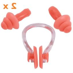 Nacodex-AXke 2 Case Pack Swimming Silicone Ear Plugs + Nose