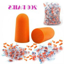 new 200 pairs orange earplugs soft foam
