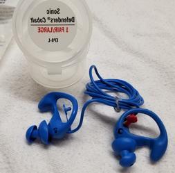 NEW SureFire EP8 Earplugs Blue Cobalt Sonic Defenders 24db s