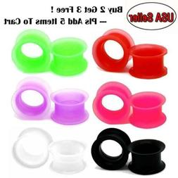 PAIR-LARGE FLARE SOFT Silicone Ear Skins-Ear Gauges-Soft Ear