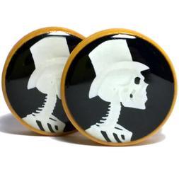 Pair of Wood Handmade Ear Plugs - Organic Gauges Flesh Tunne