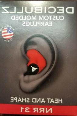 Decibullz PLG1-RED Custom Molded Fit Earplugs in Red