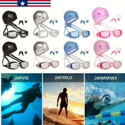 profes swimming glasses and hat equipment set