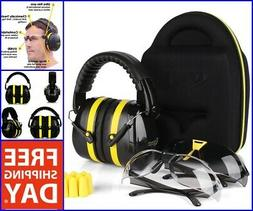 Shooting Ear Muffs Protection Gun Safety Glasses Earplugs UV