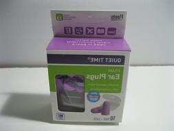 FLENTS Purple Lavender Quiet Time Ear Plugs 10 PAIR + CASE
