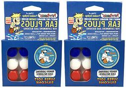 2 PACK!!! 6 Pair Putty Buddies WaterBlock Swimming Ear Plugs