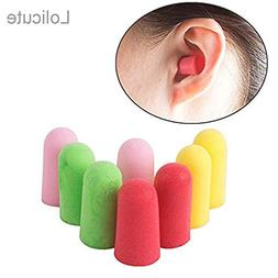 Lolicute 25 Pairs Quiet Please SNR 34DB Foam Ear Plugs Ear B