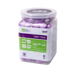 Flents Quiet Time Ear Plugs 50 Pair NRR 33