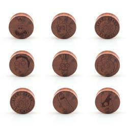 Rick & Morty Wood Ear Plug - Laser Engraved Double Flared -