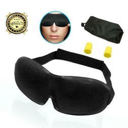 Serenelife Sleep Mask & Ear Plugs - 3D Contoured Sleeping Ma