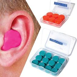 Silicone Putty Moulded Ear Plugs by Sleepytime,Blue Soft Sti