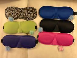 Sleep masks with ear plugs -upgraded 3D contoured 100% -6pc