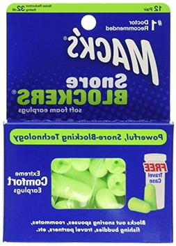 Mack's Snore Blockers Foam Earplugs - 24, count, 12 pair