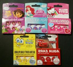 AQUA EARS Soft Silicone Ear Plugs 3 Pairs HELLO KITTY Sponge