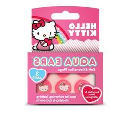 "Aqua Ears ""Hello Kitty"" Soft Silicone Ear Plugs - 3 Pairs"