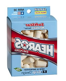 HEAROS Softstar Foam Series Ear Plugs, White, 56 Pair