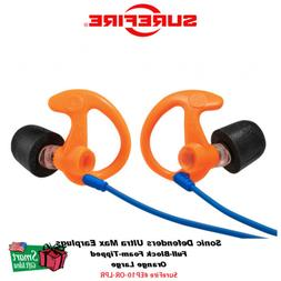 Surefire Sonic Defenders Ultra Max Earplugs, Orange Large #E