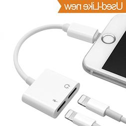 Lightning Jack Audio Adapter for iPhone X 8/8 Plus. Lightnin