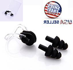 Swimming EAR NOSE Plugs Set Dive Silicone Soft Waterproof Wa