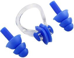 Swimming Ear Plugs And Nose Clip Set