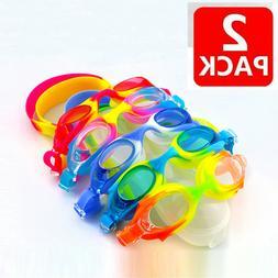 Kids Swimming Goggles Anti-Fog Swim Glasses UV Protection wi
