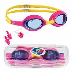 Swimming Goggles For Kids Age 4-12 Perfect Fit No Leak Nose