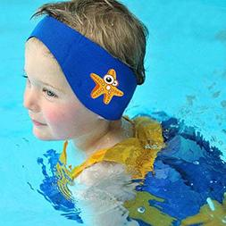 SUIEK Swimming Headband Cute Starfish Pattern ) Blue