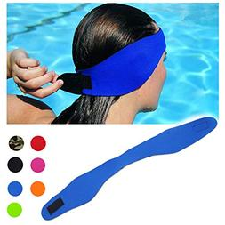 DoMii Swimming Headband Waterproof Ear Band Earplugs Hair Gu