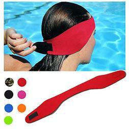 DoMii Swimming Headband Waterproof Ear Band Earplugs Hair Gu