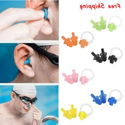 Swimming Nose Clip Ear Plugs Clear Case Set Swimmer Unisex A