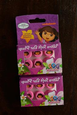 Dora the Explorer Ultra Soft Ear Plugs - 3 Pairs