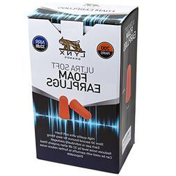 Lynx Ultra Soft Foam Ear Plugs, , 32dB Highest NRR, Very Com