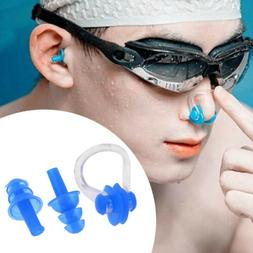 Unisex Silicone Nose Clip Ear Plugs Set Kids Adult Water Poo