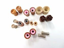 US SELLER- 10 pairs 10 supply mixed wooden ear plugs, earlet