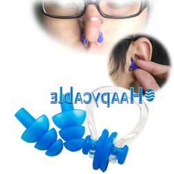 New Waterproof Soft Silicone Swimming Set Nose Clip + Ear Pl